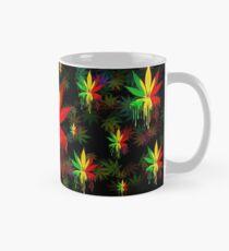 Marijuana Leaf Rasta Colors Dripping Paint Mug