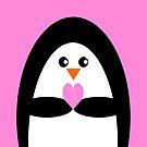 Pink Penguin Love by Adam Regester