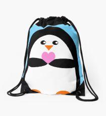 Penguin Love Drawstring Bag