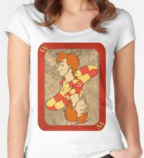 Fred and George Playing Card Women's Fitted Scoop T-Shirt