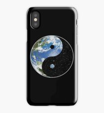 Earth and Space Yin Yang Symbol iPhone Case/Skin