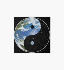 Earth and Space Yin Yang Symbol Art Board