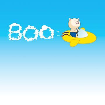 BOO Flying in Sky Background by BeachHutMedia