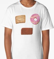 Biscuits: Custard Cream, Party Ring and Bourbon Long T-Shirt