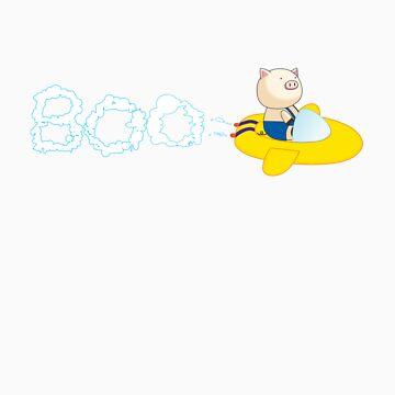 BOO Flying by BeachHutMedia