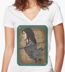 Sirius Playing Card Women's Fitted V-Neck T-Shirt