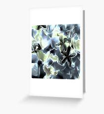Fluid Flowers Greeting Card