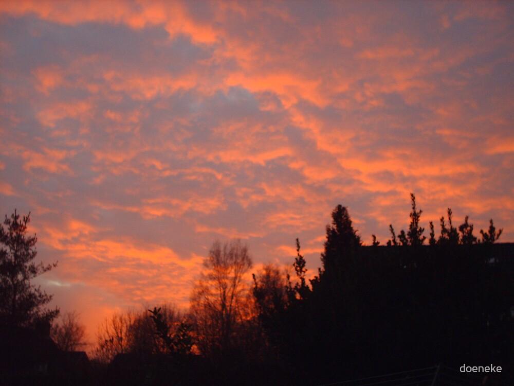 red sky by doeneke