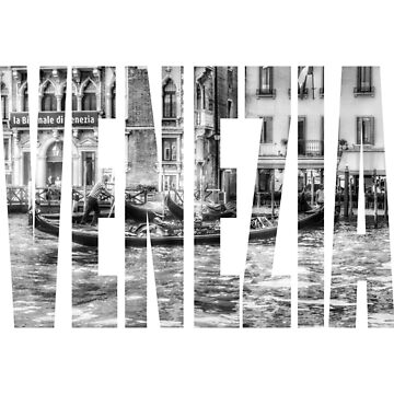 Venezia Gondola Photo Print Logo by cutehuur