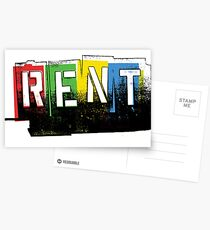 Rent Logo Color Postcards