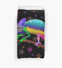 Chameleon Fantasy Rainbow Colors Duvet Cover