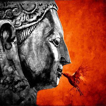 BUDDHA KISS - orange by ARTito