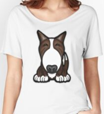 Brown Patch English Bull Terrier Women's Relaxed Fit T-Shirt