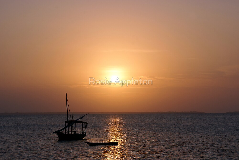 Zanzibar Sunset by Rosie Appleton