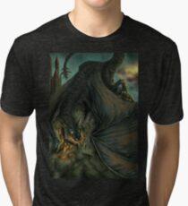 Hungarian horntail - No text version Tri-blend T-Shirt