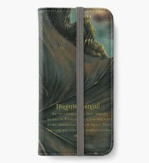 Hungarian horntail - With text version iPhone Wallet/Case/Skin
