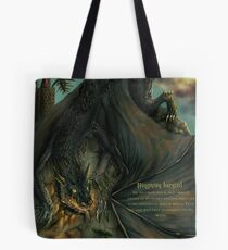Hungarian horntail - With text version Tote Bag
