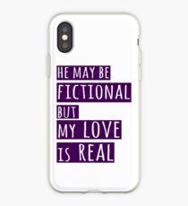 Vinilo o funda para iPhone él puede ser ficticio pero mi amor es real (1)