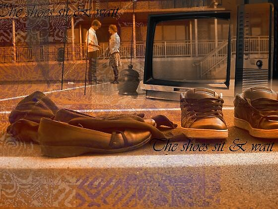 the shoes sit and wait by Sean McCarthy