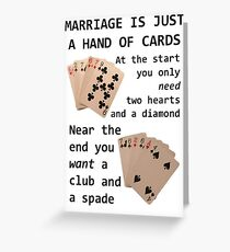 Hearts, Diamonds, Spades and Clubs Greeting Card