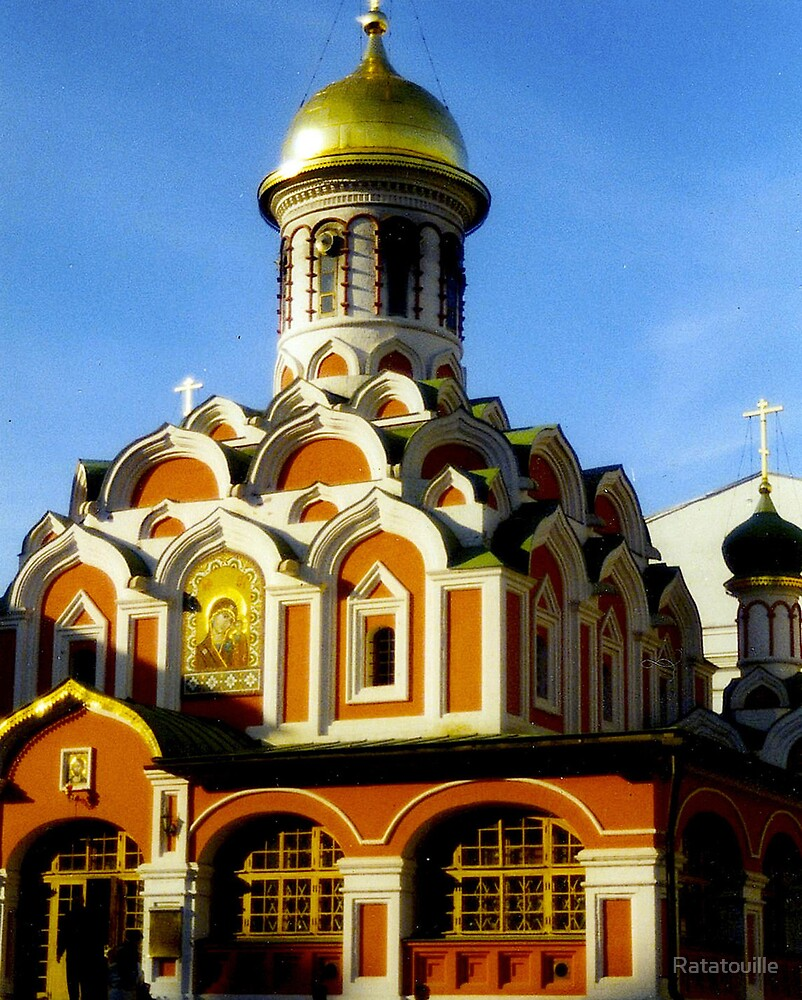 Red Church in Moscow by Ratatouille
