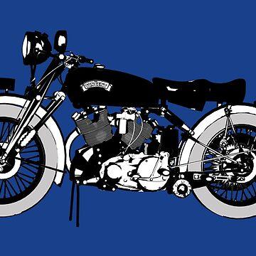 Vincent black shadow classic bike by Boxzero