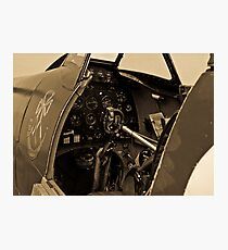 Supermarine Spitfire Cockpit Photographic Print