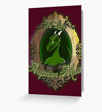 The Lusty Argonian Maid Greeting Card