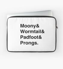 Moony & Wormtail & Padfoot & Prongs. Laptop Sleeve