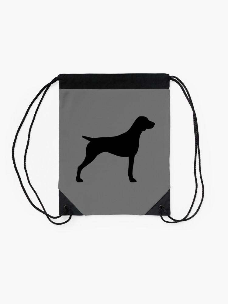 Alternate view of German Shorthaired Pointer Silhouette(s) Drawstring Bag
