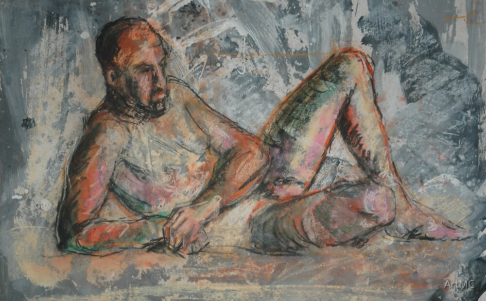 Seated male figure by ArtMC
