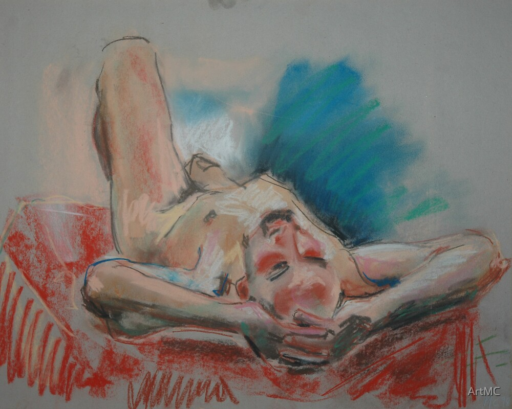 Reclining male figure by ArtMC