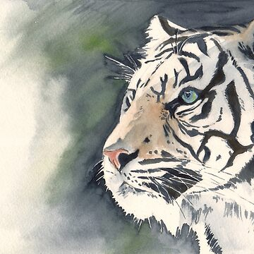 white tiger  by E-M-Wood
