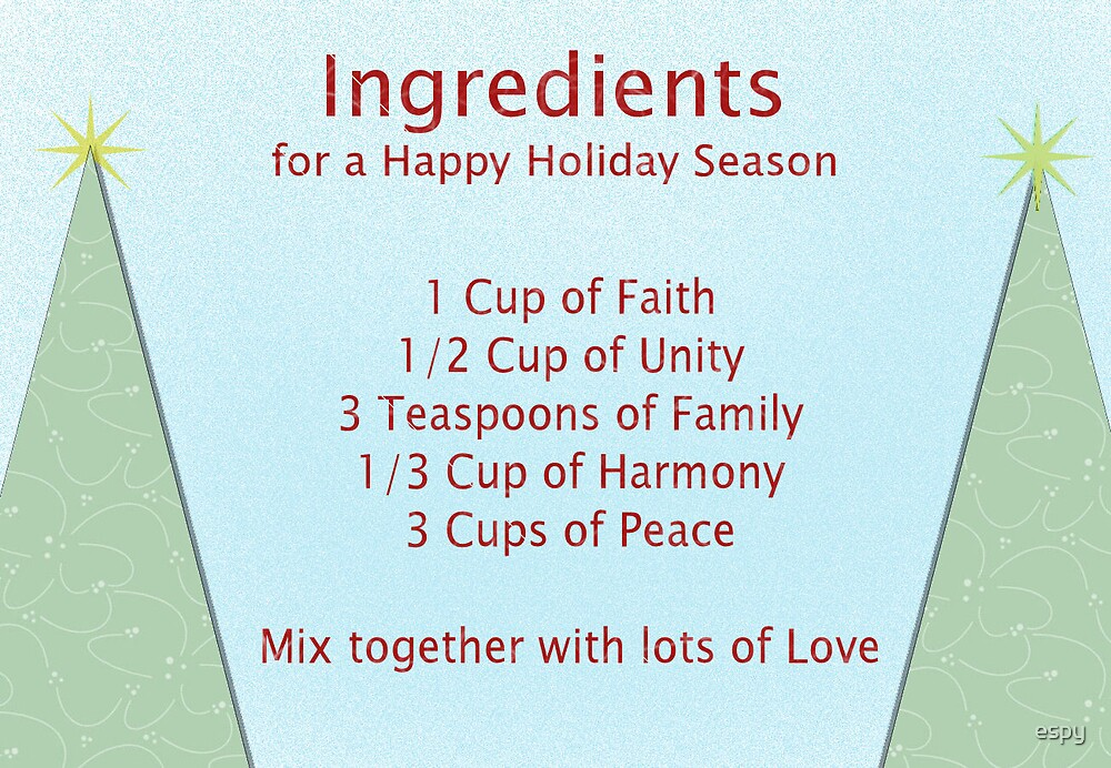 Christmas Ingredients by espy