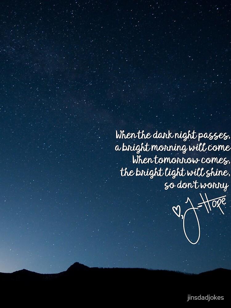 BTS J-Hoffnung Morgen Lyrics von jinsdadjokes