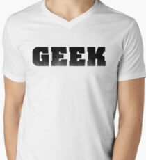 The word GEEK | A shirt that says GEEK - Black Men's V-Neck T-Shirt