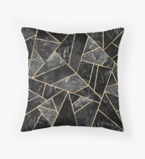 Black Stone 2 Throw Pillow
