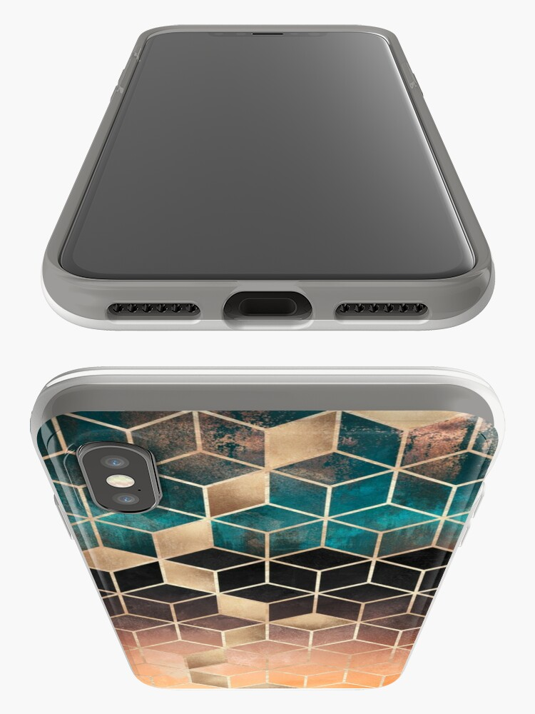Alternate view of Ombre Dream Cubes iPhone Cases & Covers