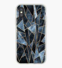Zerschmettertes weiches dunkles Blau iPhone-Hülle & Cover