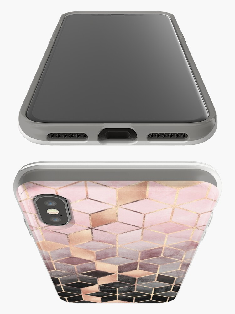 Alternate view of Pink And Grey Gradient Cubes iPhone Cases & Covers