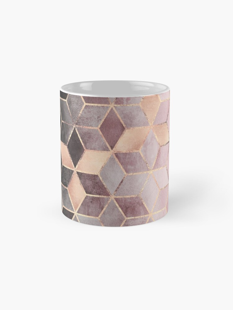 Alternate view of Pink And Grey Gradient Cubes Mugs