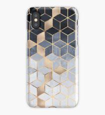 Soft Blue Gradient Cubes iPhone Case