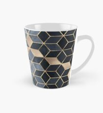 Soft Blue Gradient Cubes Tall Mug