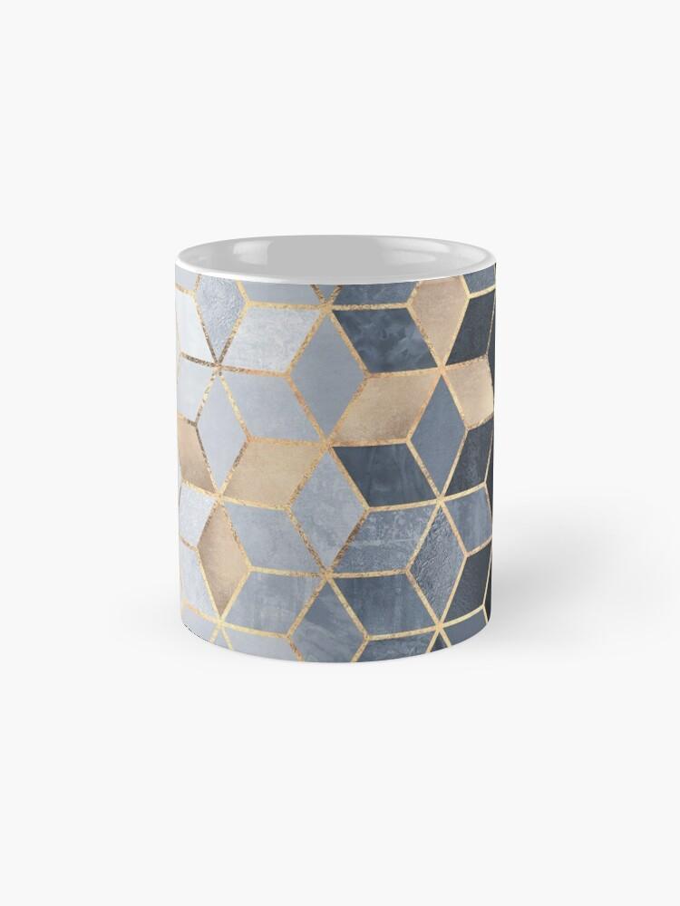 Alternate view of Soft Blue Gradient Cubes Mug