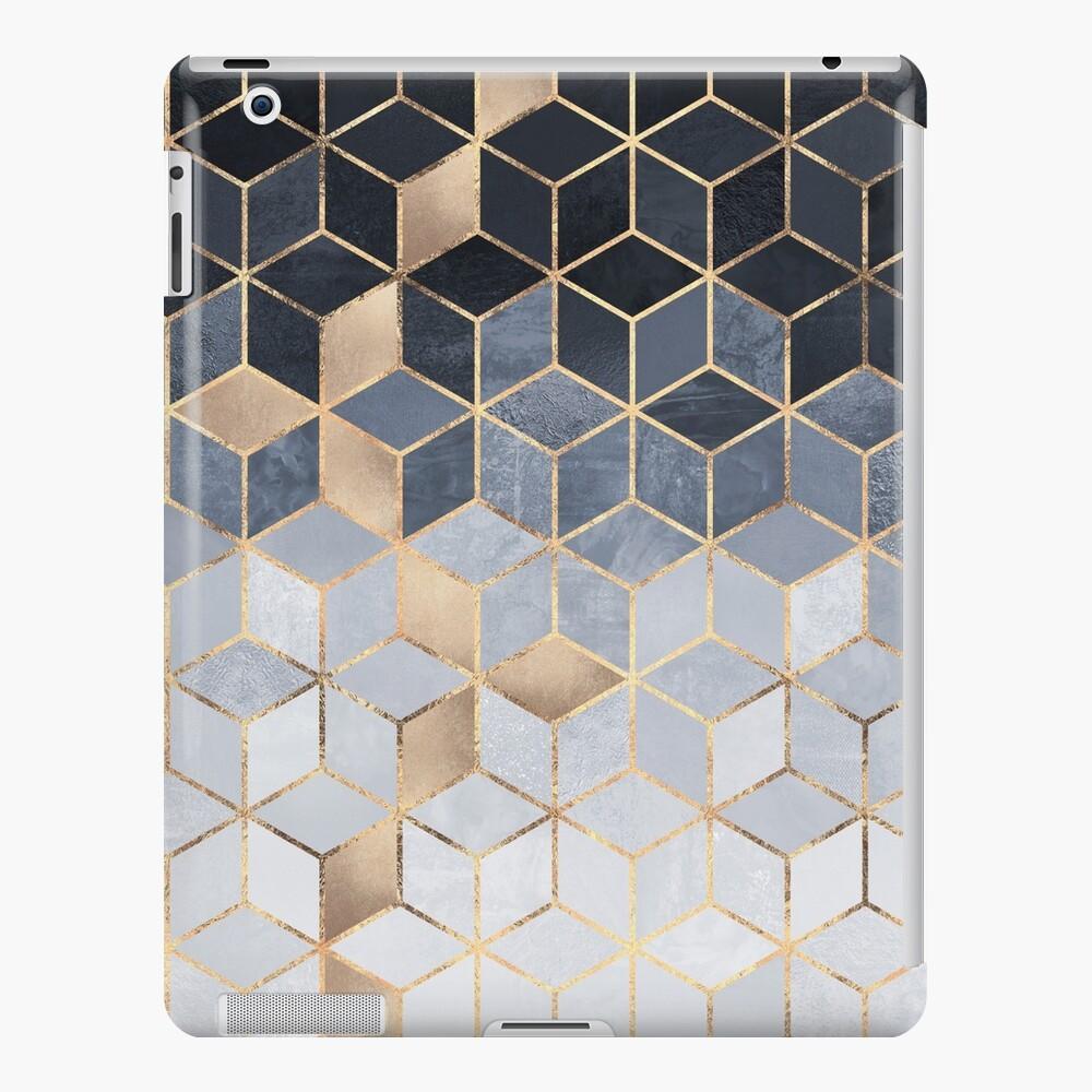 Soft Blue Gradient Cubes iPad Case & Skin