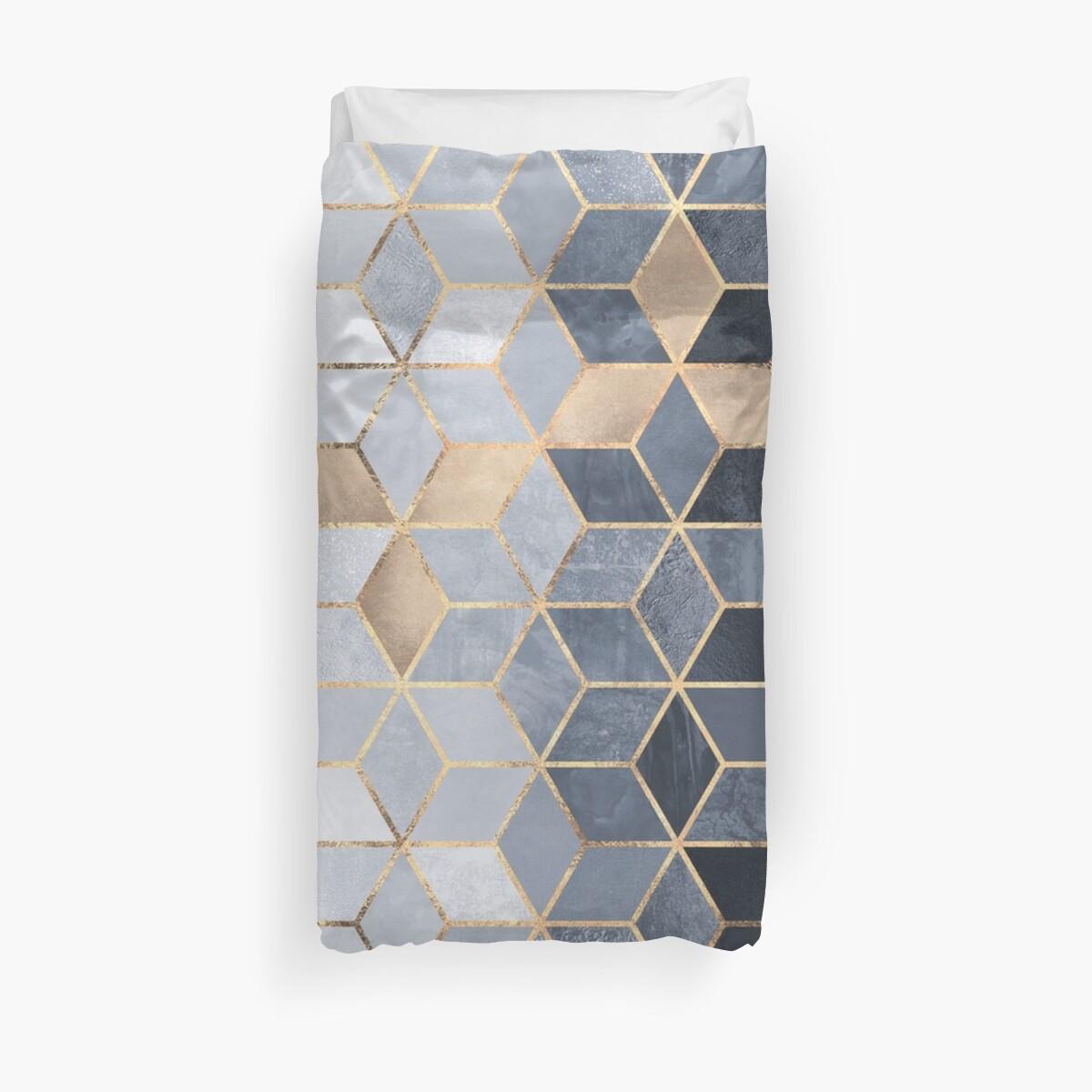 « Cubes dégradés bleus mous » par Elisabeth Fredriksson