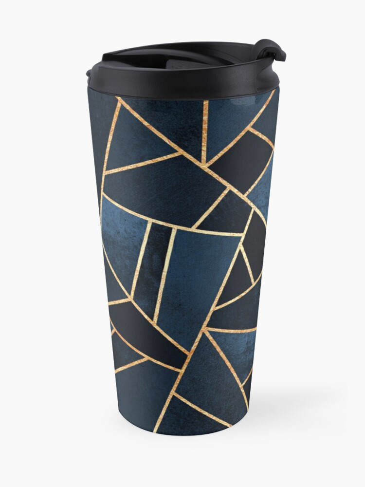 Alternate view of Navy Stone Travel Mug