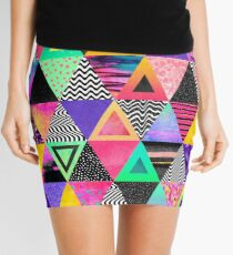 Quirky Triangles Mini Skirt