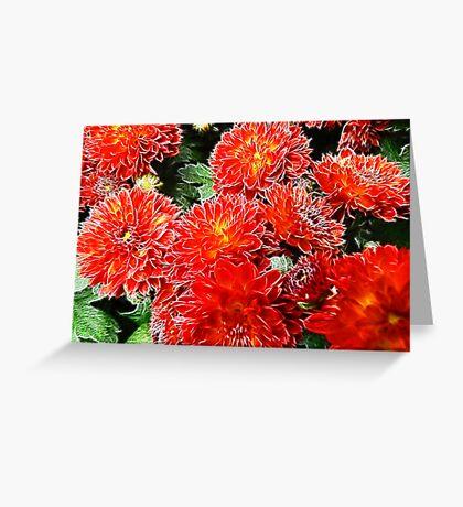 Flaming Red Greeting Card
