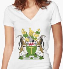 RHODESIA COAT OF ARMS Women's Fitted V-Neck T-Shirt